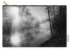 Foggy Misty Morning Sunrise On James River Carry-all Pouch