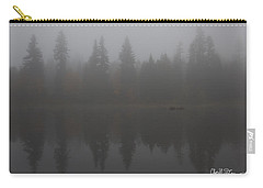 Foggy Morning On The Lake Carry-all Pouch by Charlie Duncan