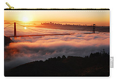Foggy Morning San Francisco Carry-all Pouch by James Kirkikis