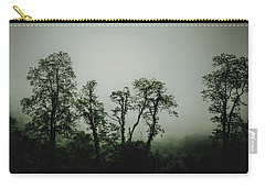 Carry-all Pouch featuring the photograph Foggy Mountain Morning At The Meadows Of Dan by John Haldane