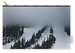 Foggy Ski Resort Carry-all Pouch by Eti Reid