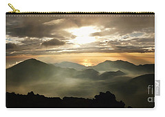 Foggy Sunrise Over Haleakala Crater On Maui Island In Hawaii Carry-all Pouch