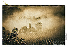Carry-all Pouch featuring the photograph Foggy Tuscany by Silvia Ganora