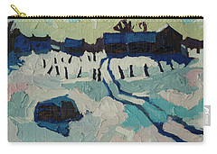 Foley Farm In Winter Carry-all Pouch by Phil Chadwick
