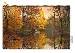 Carry-all Pouch featuring the photograph Foliage Reflected by Jessica Jenney