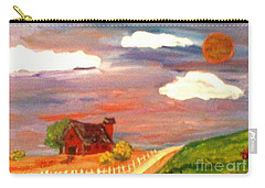 Carry-all Pouch featuring the painting Folk Art by Bobbee Rickard