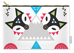 Folk Fox Carry-all Pouch by Susan Claire