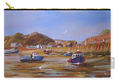Folkestone Harbour Low Tide Carry-all Pouch by Beatrice Cloake