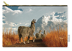 Follow The Llama Carry-all Pouch by Daniel Eskridge