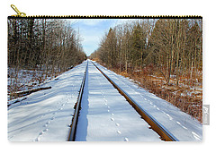 Carry-all Pouch featuring the photograph Follow Your Own Path by Debbie Oppermann