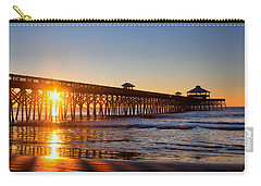 Folly Beach Pier At Sunrise Carry-all Pouch