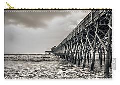Carry-all Pouch featuring the photograph Folly Beach Pier by Sennie Pierson