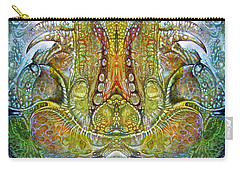 Carry-all Pouch featuring the digital art Fomorii Throne by Otto Rapp