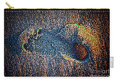 Carry-all Pouch featuring the photograph Foot In The Sand by Mariola Bitner