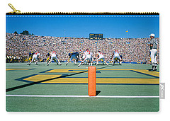 Football Game, University Of Michigan Carry-all Pouch