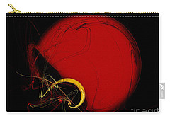 Football Helmet Red Fractal Art 2 Carry-all Pouch