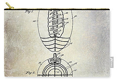 1925 Football Patent Drawing Carry-all Pouch by Jon Neidert