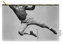 Football Player Catching Pass Carry-all Pouch by Underwood Archives