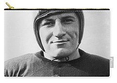 Football Player Portrait Carry-all Pouch by Underwood Archives