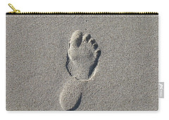 Footprint In The Sand Carry-all Pouch