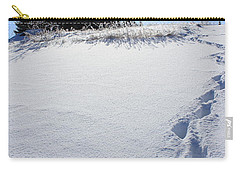 Footprints In The Snow Carry-all Pouch by Penny Meyers