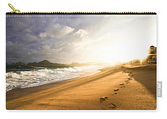 Carry-all Pouch featuring the photograph Footsteps In The Sand by Eti Reid