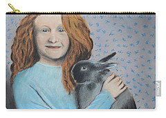 Carry-all Pouch featuring the painting For The Love Of Bunny by Jeanne Fischer