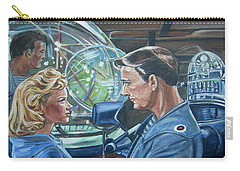 Carry-all Pouch featuring the painting Forbidden Planet by Bryan Bustard