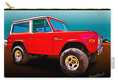 Ford Bronco Classic From Vivachas Hot Rod Art Carry-all Pouch