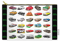 Four Decades Of Fords Poster Carry-all Pouch