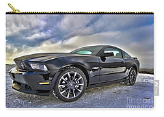 Carry-all Pouch featuring the photograph ford mustang car HDR by Paul Fearn