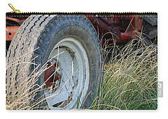 Carry-all Pouch featuring the photograph Ford Tractor Tire by Jennifer Ancker