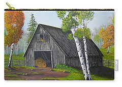 Carry-all Pouch featuring the painting Forest Barn by Sheri Keith