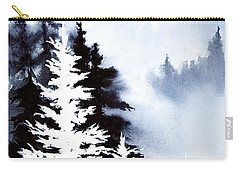 Carry-all Pouch featuring the painting Forest Indigo by Teresa Ascone