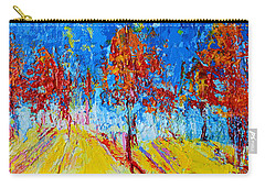 Tree Forest 4 Modern Impressionist Landscape Painting Palette Knife Work Carry-all Pouch