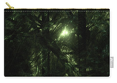 Carry-all Pouch featuring the digital art Forest Light by GJ Blackman