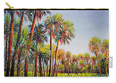 Forest Of Palms Carry-all Pouch by Lou Ann Bagnall
