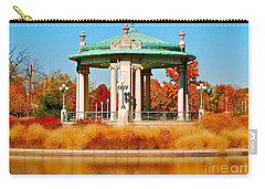 Carry-all Pouch featuring the photograph Forest Park Gazebo by Peggy Franz