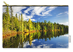 Forest Reflecting In Lake Carry-all Pouch by Elena Elisseeva