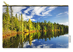Forest Reflecting In Lake Carry-all Pouch