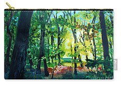 Carry-all Pouch featuring the painting Forest Scene 1 by Kathy Braud