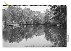 Carry-all Pouch featuring the photograph Forest Snow by Miguel Winterpacht