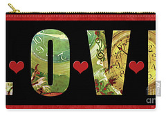 Forever Love Carry-all Pouch by Claudia Ellis