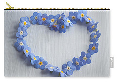 Forget Me Not Heart Carry-all Pouch