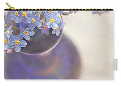 Forget Me Nots In Blue Vase Carry-all Pouch