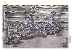 Carry-all Pouch featuring the painting Forgotten Banana Seat Bike by Kelly Mills
