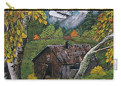 Carry-all Pouch featuring the painting Forgotten Cabin  by Sharon Duguay