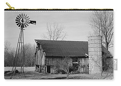 Forgotten Farm In Black And White Carry-all Pouch
