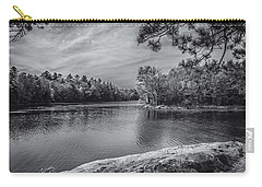 Fork In River Bw Carry-all Pouch by Mark Myhaver