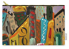Carry-all Pouch featuring the painting Forsythia Sky by Mary Carol Williams